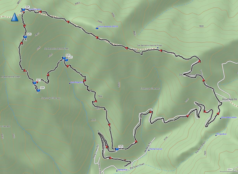 Map Baldy Hike 05-25-13
