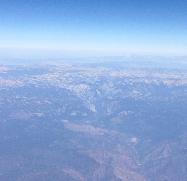 Yosemite from Plane 1