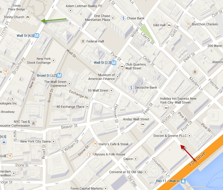 Map of Wall Street