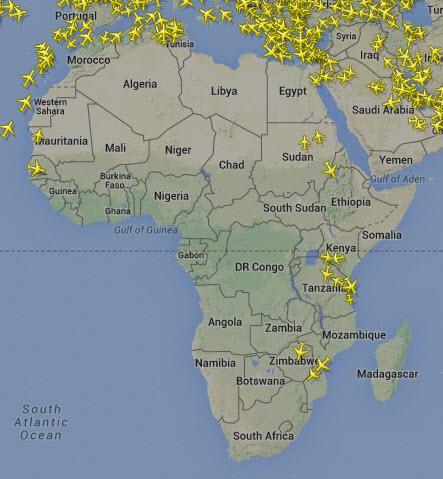 planes Africa