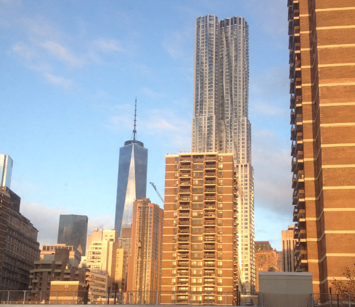 Morning Sun on Freedom Tower