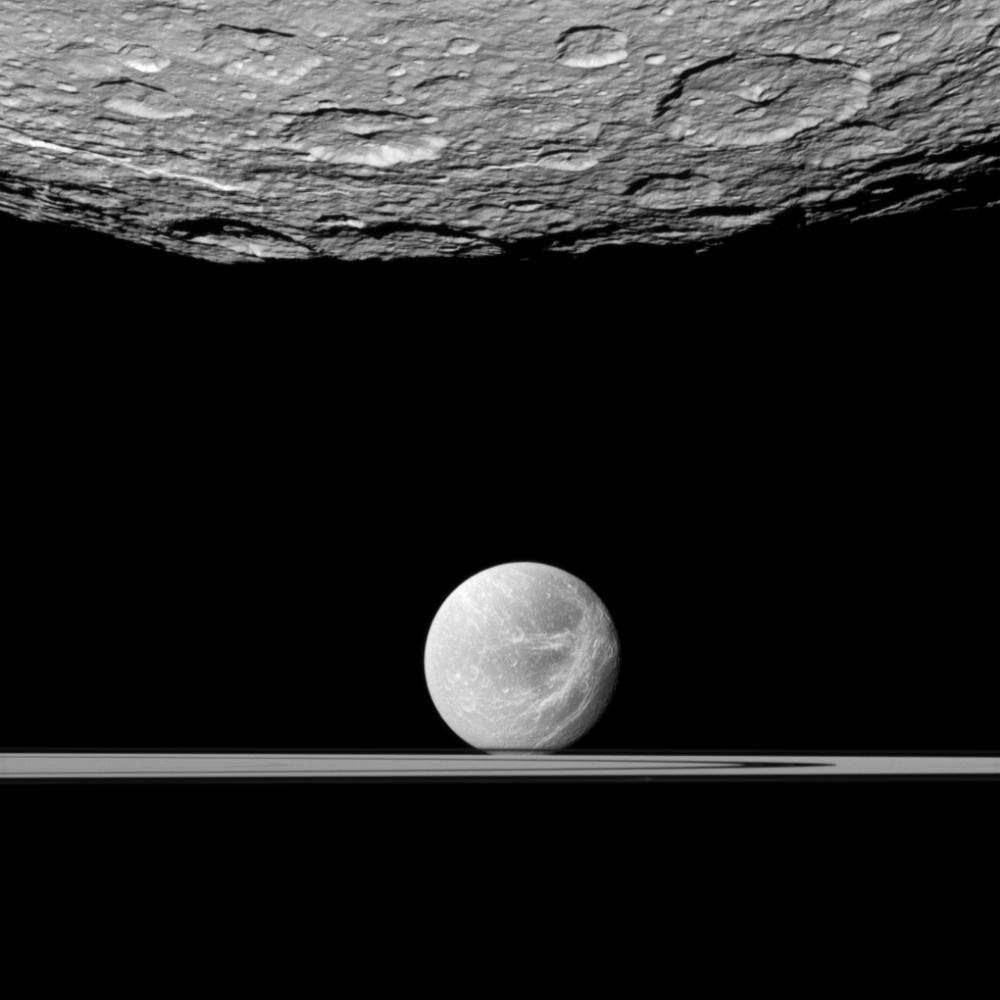 Rhea and Dione